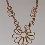 collar Flor, onix, coral